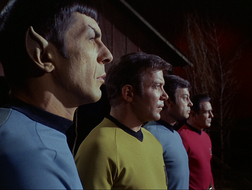Spock, Kirk, McCoy, Scotty